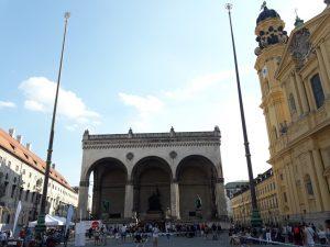 Múnich. Odeonplatz.Feldherrnhalle