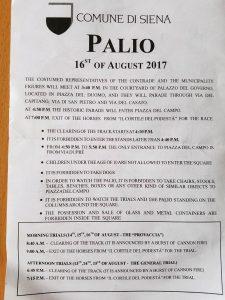 Programa del Palio