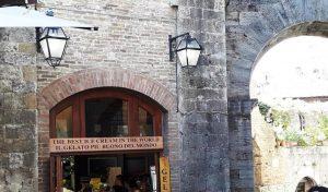 San Gimignano. Gelateria Dell` Olmo