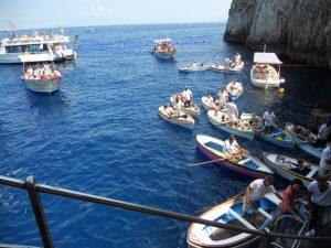 Capri. Entrada Gruta Azul.
