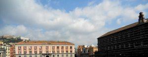 Nápoles. Plaza del Plebiscito. Teatro de la Corte y Palacio Real