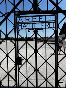 Dachau. Puerta de entrada.