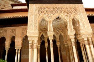 Granada. Alhambra. Palacios Nazaríes. Patio de los Leones.