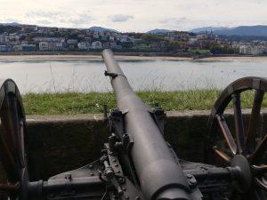 San Sebastián. Monte Urgull. Batería de las Damas.