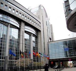 Bruselas. Entrada al Parlamento Europeo.