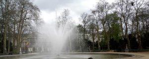 Parque de Bruselas y Parlamento belga