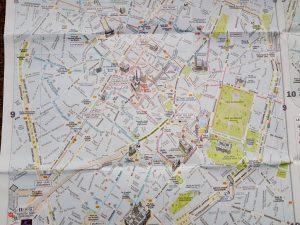 Bruselas. Plano de la Ciudad