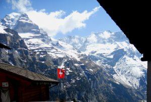 Vista del Jungfrau desde Mürren