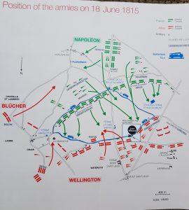 Waterloo. Posicionamiento de las tropas.