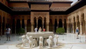 Alhambra de Granada. Palacios Nazaríes. Patio de los Leones.