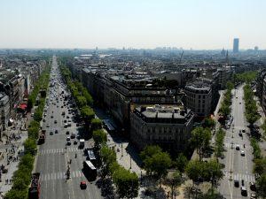 París. Campos Elíseos desde el Arco del Triunfo.