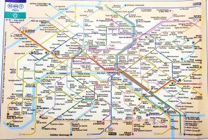 París. Plano del metro.