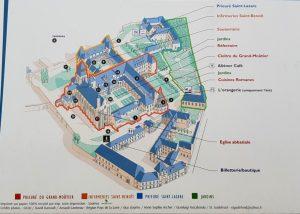 Plano Abadía de Fontevraud.