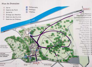 Plano de Chaumont sur Loire.