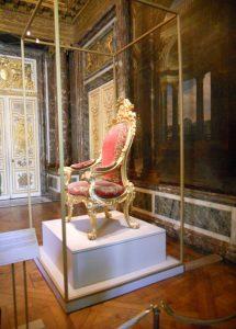 Versalles. Trono de Luis XIV.