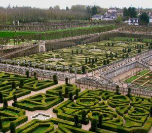 Loira. Chateau de Vilandry. Jardines.