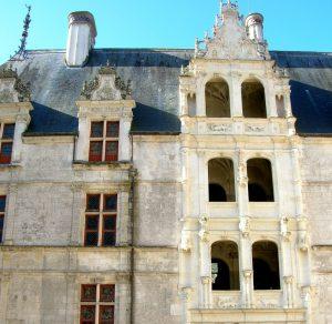 Loira. Azay-Le-Rideau. Escalinata de Honor.