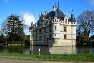 Chateau de Azay-Le-Rideau. Valle del Loira. Francia.