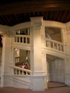 Loira. Palacio Nacional de Chambord. Gran Escalinata.