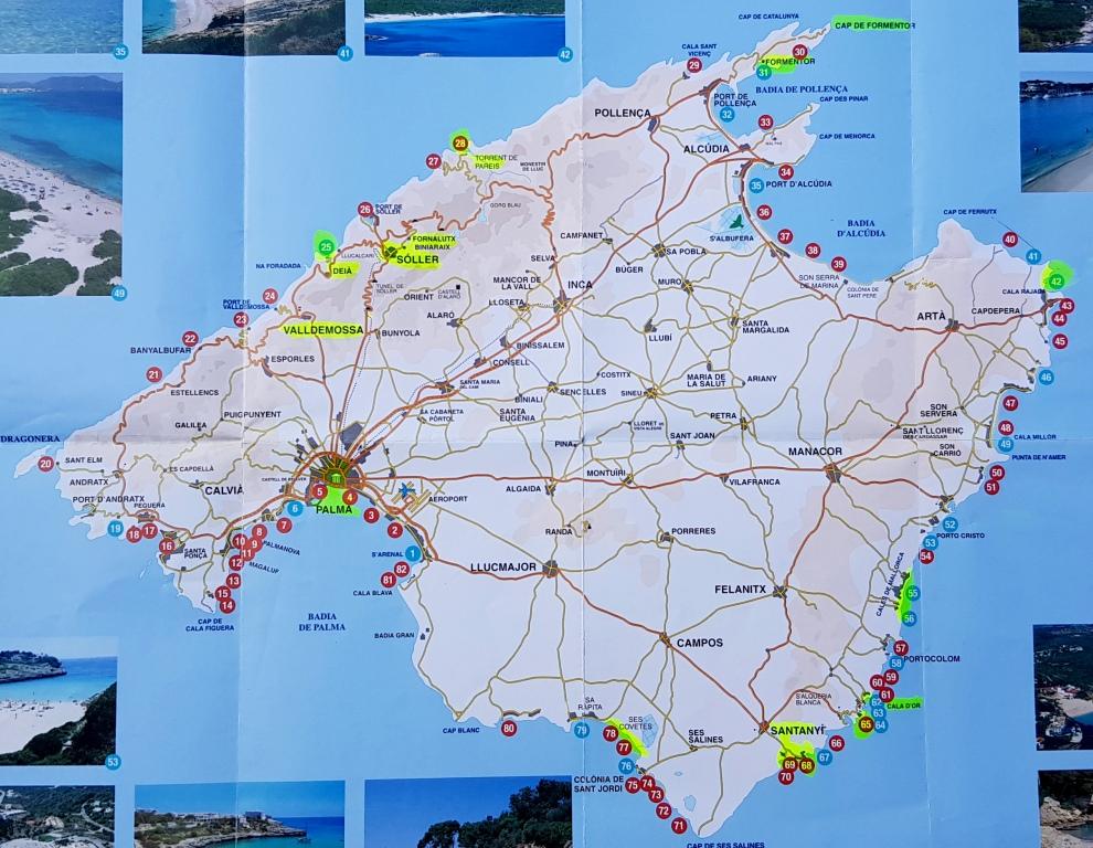 Mapa Calas De Mallorca.Mallorca Calas Y Playas Visitmundi