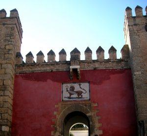 Sevilla. Real Alcázar. Puerta del León.