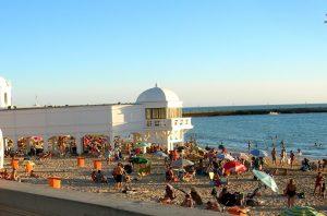 Cádiz. Playa de la Caleta