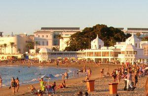 Cádiz. Playa de la Caleta.
