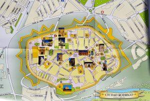 Plano de Ciudad Rodrigo