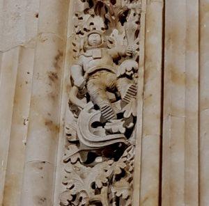Salamanca. Catedral. Puerta de Ramos. Astronauta.