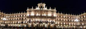 Salamanca. Plaza Mayor de noche.