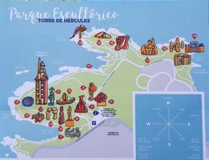 La Coruña. Parque Escultórico Torre de Hércules.