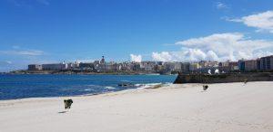 La Coruña. Playa de Riazor.