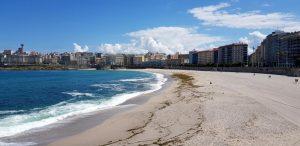 La Coruña. Playa de Orzán.