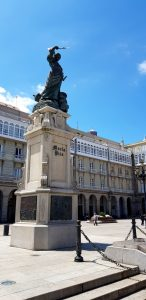 La Coruña. Monumento a María Pita.