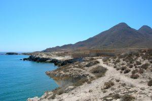 Cabo de Gata. Castillo de San Felipe. Los Escullos.