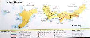 Plano de las Islas Cíes.