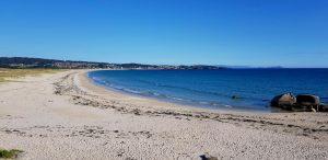 Playa de A Lanzada. Pontevedra. Galicia. España.