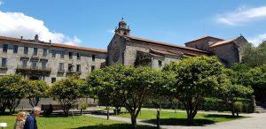 Pontevedra. Plaza Ourense e Iglesia de San Francisco