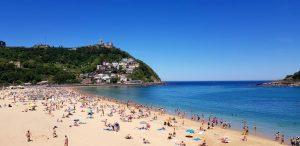 San Sebastián. Playa de Ondarreta