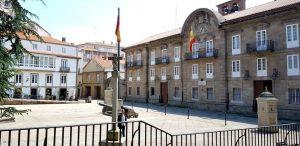 La Coruña. Plaza de la Constitución. Capitanía General.