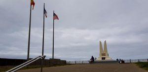 Las Landas. Mimizan Playa. Monumento primero vuelo transoceánico.