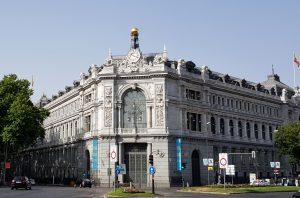 Madrid. Plaza de Cibeles. Banco de España