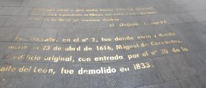 Madrid. Barrio de las Letras.