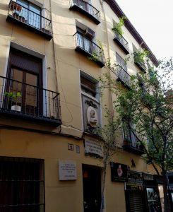 Madrid. Barrio de las Letras. donde murió Cervantes