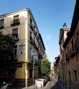 Madrid. Barrio de las Letras. Casa de Quevedo e Iglesia Trinitarias