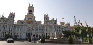 Madrid. Plaza de Cibeles. Palaco de Comunicaciones.