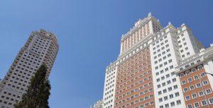 Madrid. Plaza de España. Torre Madrid y Edificio España