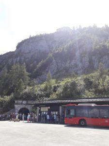 Berchtesgaden. Túnel y autobuses
