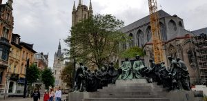 Gante. Monumento a los hermanos Van Eyck