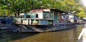 Amsterdam. Vivienda flotante más antigua